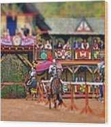 The Jousters Wood Print