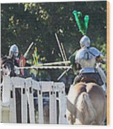 The Jousting Contest  Wood Print