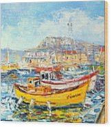 The Kalk Bay Harbour Wood Print