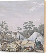 The Kapunda Copper Mine, From South Wood Print