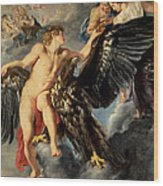 The Kidnapping Of Ganymede Wood Print
