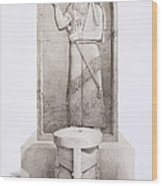 The King And Sacrificial Altar, Nimrud Wood Print