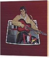 The King Elvis Wood Print