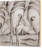 The King Is Dead  Wood Print by Simona  Mereu