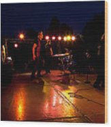 The Kingpins Rock The Night Away Wood Print