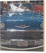 Elvis In Blue Wood Print