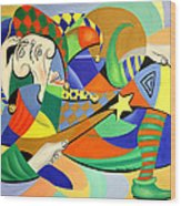 The Kings Jester Wood Print