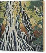 The Kirifuri Waterfall Wood Print by Hokusai
