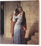 The Kiss 1859 Wood Print