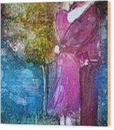 The Kiss Wood Print by Deborah Nell