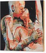 The Kiss Wood Print by Graham Dean
