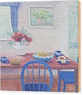 The Kitchen Table Laid For Lunch Wood Print