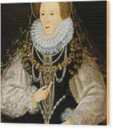 The Kitchener Portrait Of Queen Wood Print