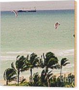 The Kite Surfers Wood Print