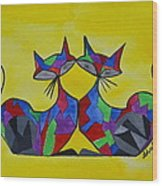 The Kitty Couple Wood Print