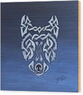 The Knotty Wolf Wood Print