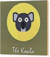 The Koala Cute Portrait Wood Print