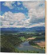 The Kootenai River Wood Print