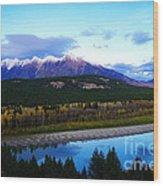 The Kootenenai River Surrounding The Canadian Rockies   Wood Print