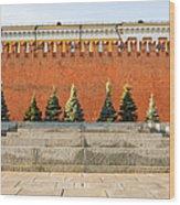 The Kremlin Wall Wood Print