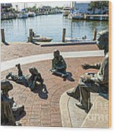 The Kunta Kinte-alex Haley Memorial In Annapolis Wood Print