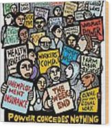 The Labor Movement Wood Print