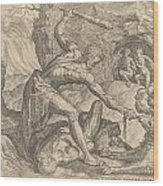 The Labours Of Hercuiles -3-capturing Cerebus 1563 Wood Print