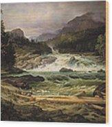 The Labro Falls At Kongsberg Wood Print