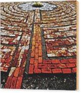 The Labyrinth Of St Luke's  Wood Print