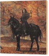 The Lady Of Halloween Wood Print