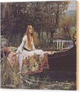 The Lady Of Shallot Wood Print by John William Waterhouse