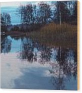 The Lake 2 Wood Print