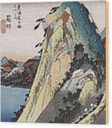 The Lake At Hakone Wood Print