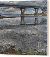 The Lake Champlain Bridge From Cown Point Wood Print