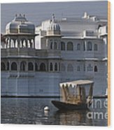 The Lake Palace, India Wood Print
