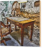 The Lamp And The Chair Wood Print
