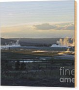 The Land Of Geysers. Yellowstone Wood Print