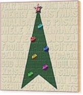 The Language Of Christmas Wood Print