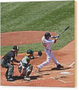 The Laser Show Dustin Pedroia Wood Print