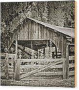 The Last Barn Wood Print