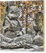 The Last Full Measure - Gettysburg National Military Park Autumn Wood Print