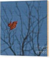 The Last Leaf Fell Wood Print