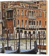The Last Pigeon In Venice Wood Print