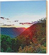 The Last Rays Wood Print