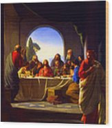 The Last Supper By Carl Heinrich Bloch Wood Print