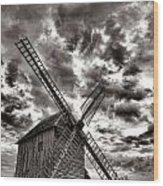 The Last Windmill Wood Print