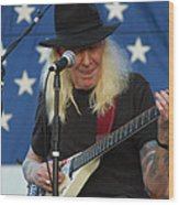 The Late Great Johnny Winter Wood Print