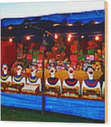 The Laughing Clowns  Wood Print