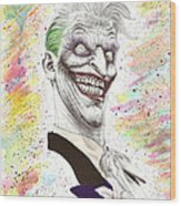 The Laughing Man Wood Print