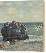 The Laugland Bay Wood Print by Alfred Sisley